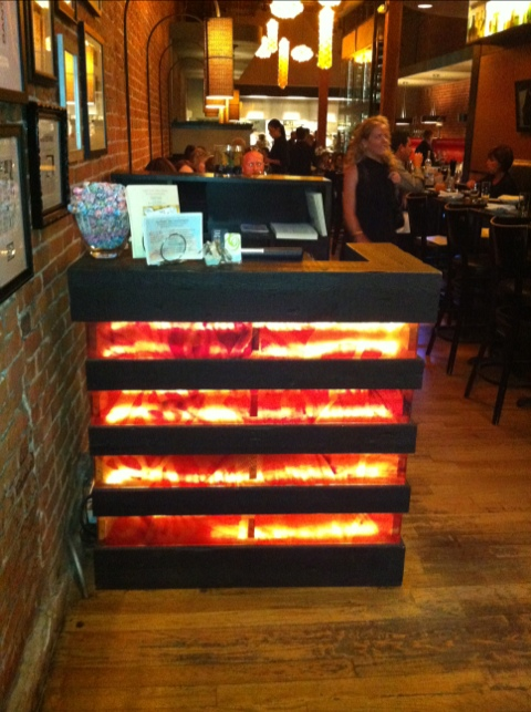 Hostess Stand At Tag Restaurant 171 Aspenleafwoodworks